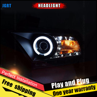 2PCS Car Style LED headlights for Ford Mustang 10 12 for Mustang head lamp LED DRL Lens Double Beam H7 HID Xenon bi xenon lens