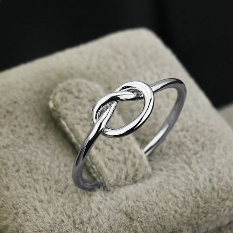 Genuine 925 Sterling Silver Best Gifts For Girl Women Jewelry Bands  Knot Ring Birthday Gift for Best Friend (JewelOra RI102297)