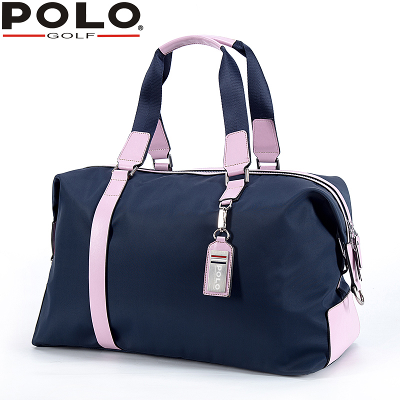 POLO New Clothing Bag Lady Hold-all Shoulder Bag Waterproof Golf Travel Handbag Bag Sport Package Nylon + First Layer of Leather new playeagle waterpoof pu leather golf boston bag golf clothing bag large capacity travel bag with shoes pocket oem logo