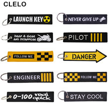 Luggage Tag Trave accessories Embroidery Launch Key Pilot Travel tag bagage tags for Flight Crew Pilot Aviation Lover(China)