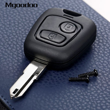 Mgoodoo 2 Buttons Remote Key Case Shell For Peugeot 106 206 306 405 Blank Replacement Key Fob Shell Case Covers Car Accessories replacement 2 buttons remote key case shell for mitsubishi lancer iv v vi vii viii ix ct9a grandis outlander blank key case fob