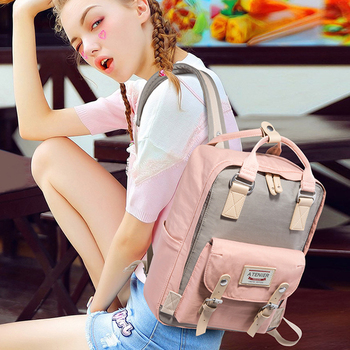 Small Waterproof Backpack | Canvas Sport Gym Bag For Fitness And Training Travel Small  Backpack Women Waterproof Female Schoolbag For Teenage Girl Bagpack
