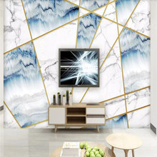 Factory direct modern minimalist geometric marble Sofa, bedroom, living room wall