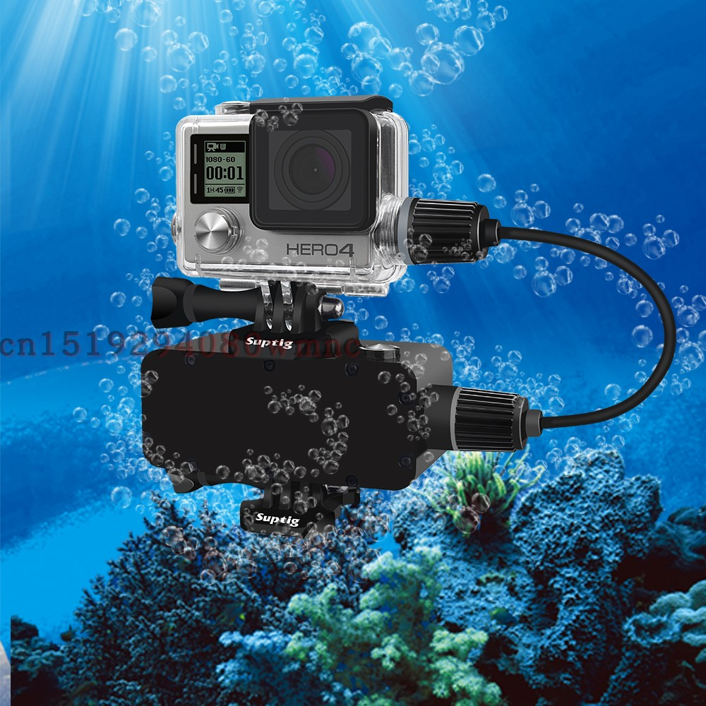 Suptig For GoPro Hero 3+/4 5200mAh Waterproof Power Bank Battery Charger Waterproof Case Action Camera Gopro Charging Shell /Box
