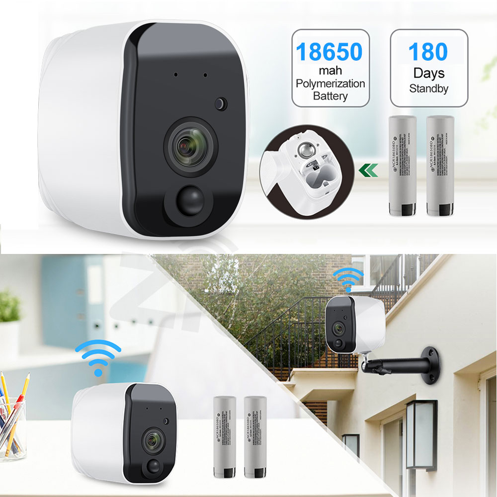 HTB1gn2RUIfpK1RjSZFOq6y6nFXav Outdoor IP Camera 1080p HD Battery WiFi Wireless Surveillance Camera 2.0MP Home Security Waterproof PIR Alarm Audio Low Power
