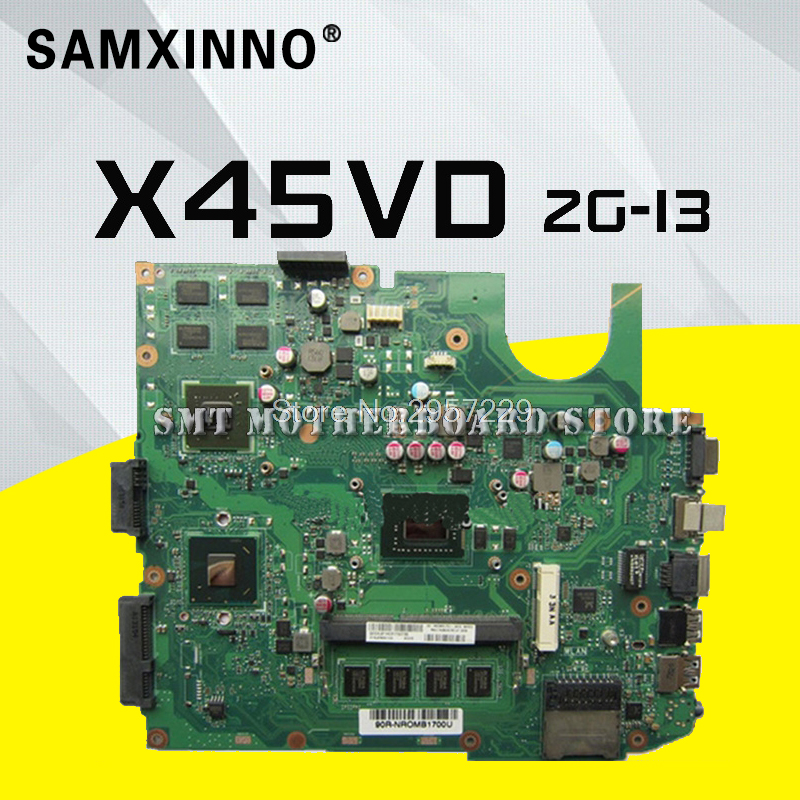 X45VD motherboard For ASUS X45VD-2G-I3 X45V Laptop Mainboard Tested Well S-6 for asus k43sd laptop motherboard processor i3 8 memory 2g mainboard 100
