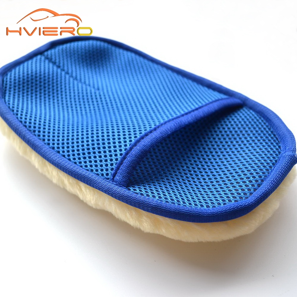 Car styling Soft Wool car accessories Wash Cleaning Glove gloves Car Motorcycle brush Washer for Car Care Cleaning tool Brushes