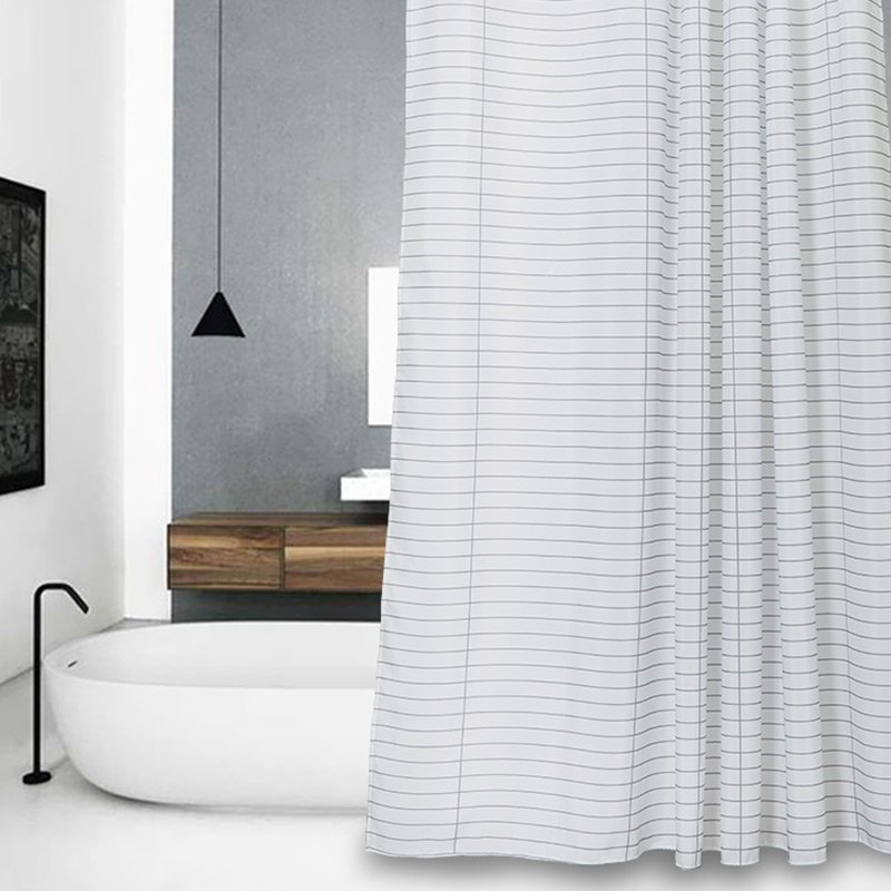 Popular Polyester Striped Shower CurtainsBuy Cheap Polyester - Gray and white striped shower curtain