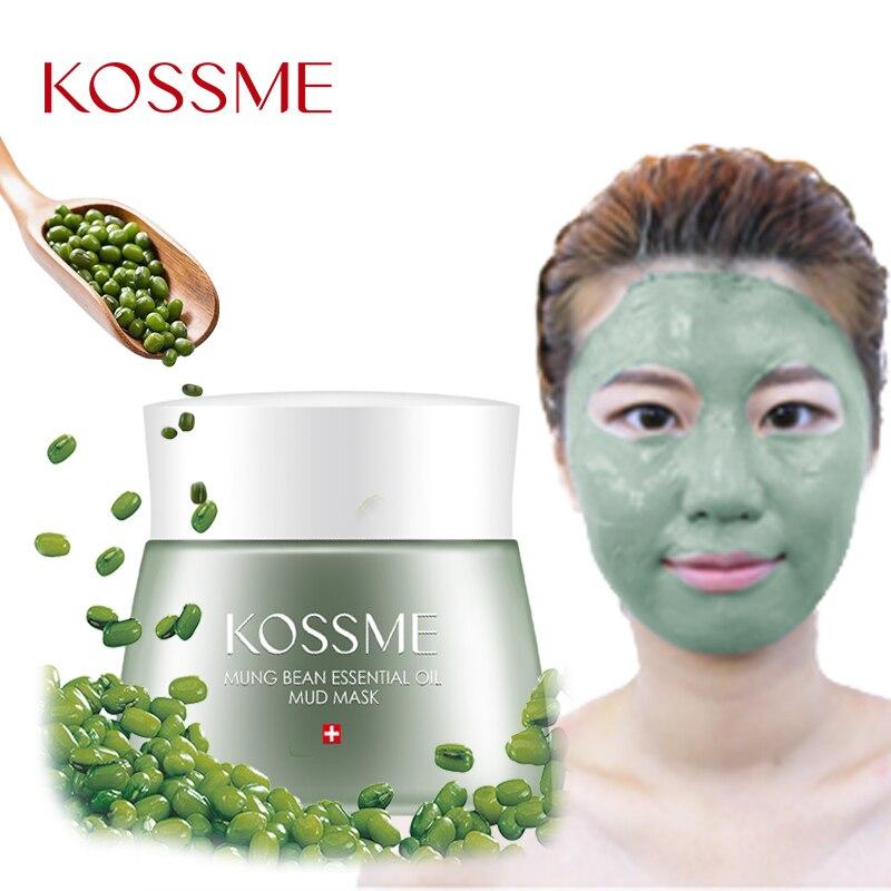 KOSSME máscara de limpieza de la piel 120g Mung Bean barro Facial cuidado de la piel Shrink poros Control de aceite tratamiento del acné máscara Facial 01ES