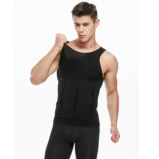 Mens Slimming Vest waist Shaper Trainers Tummy Trimmer Controling Shapewear Big Belly Control Corset Tank Tops 3