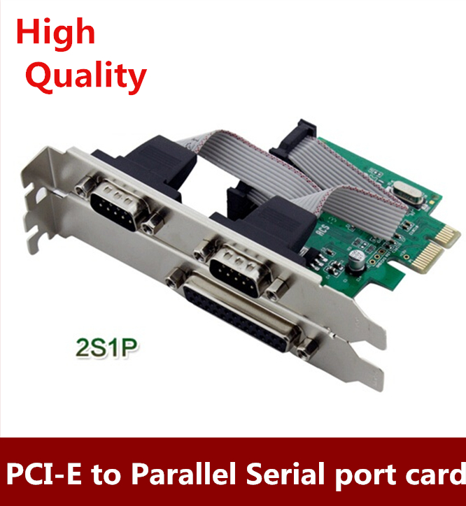 Brand New   PCI-E Combo 2 Serial + 1 Parallel IEEE 1284 Controller card PCI Express to RS232 com port + printer LPT port adapter контроллер pci e 2 com купить минск