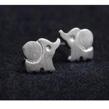 charming fashion cute baby elephant women Opal statement for party free shipping animals stud earrings