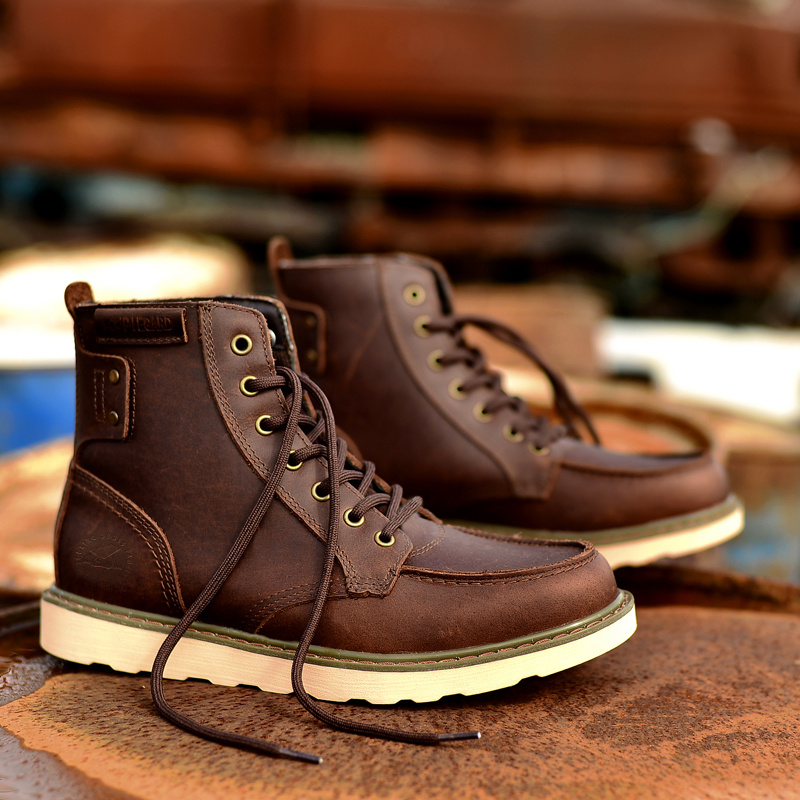 ФОТО Classic Handmade High Top Boots,Fashion Genuine Leather Shoes Men High Quality,Hot Sale Footwear,New Designers Work Safety Shoes