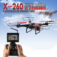 New RC Helicopter Toys X260 5.G FPV monitor RC Drones 4CH 6-Axis Gyro Headless Mode Automatic Return RC Quadcopter add HD camera