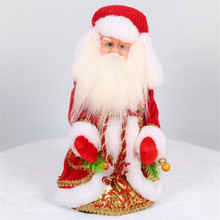 Russian Musical Santa Claus Christmas Doll Decorations Creative 12 Inch Electric Talking Toys for Children