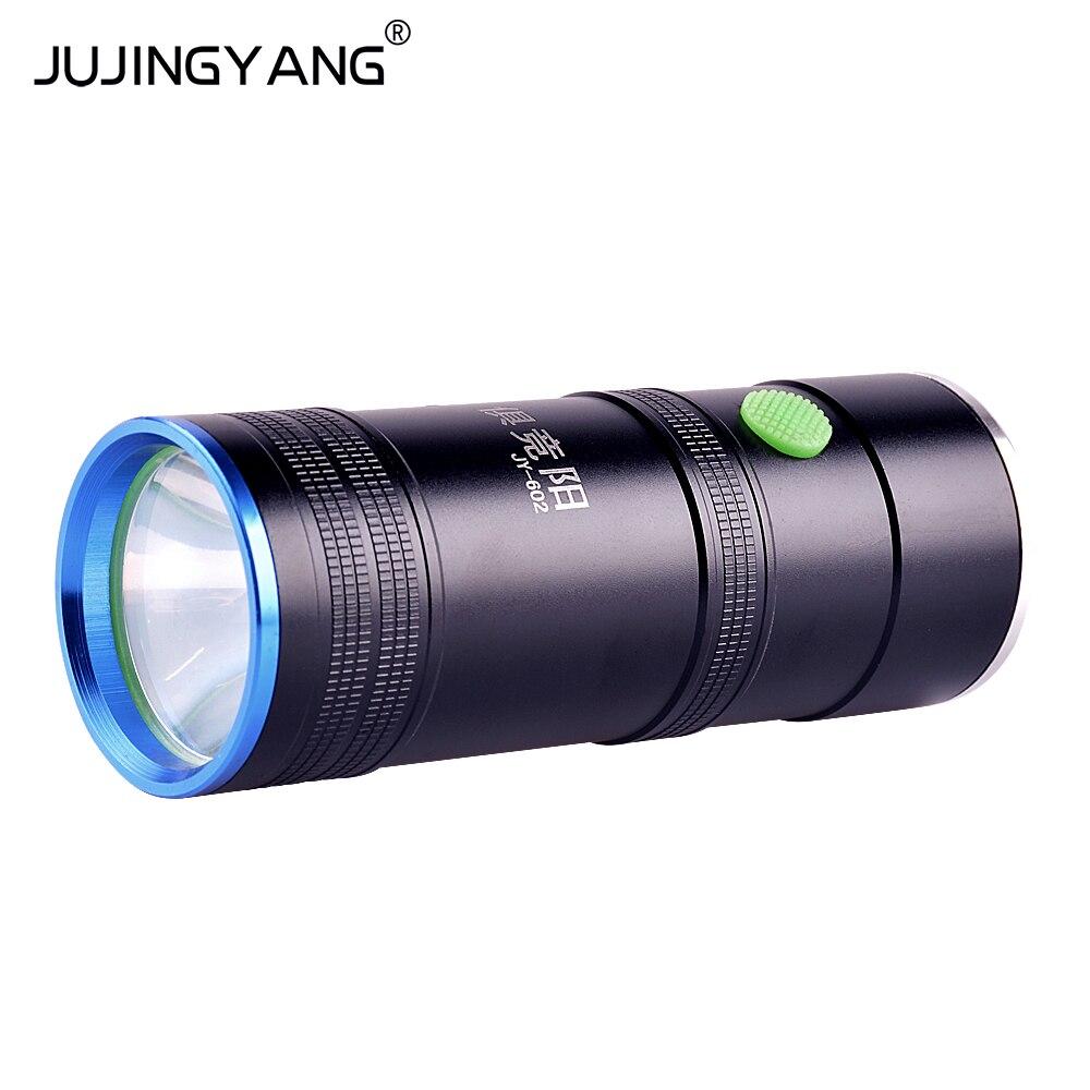 JY-602 blue and white dual light fishing lights, 5W light blue charging, band support flashlight цена
