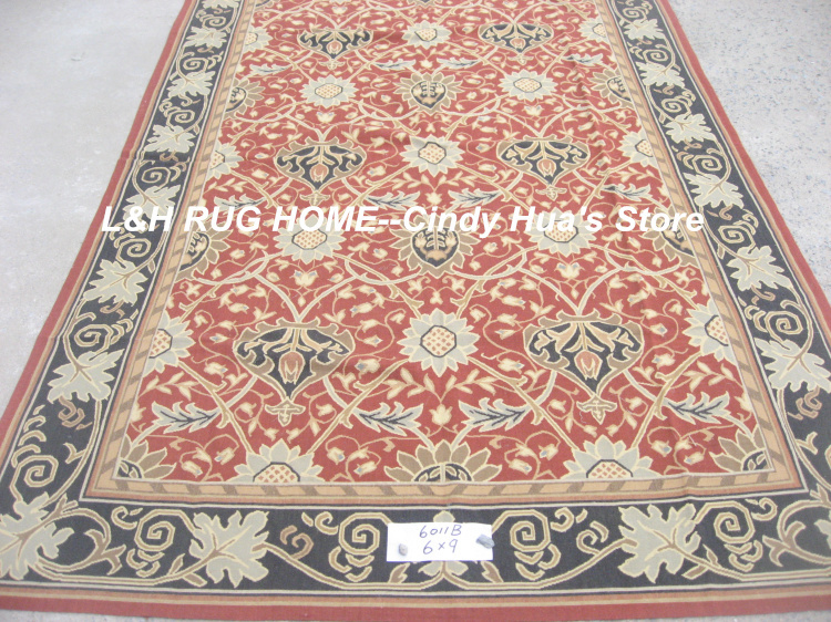 Free Shipping 6X9 rugs French Aubusson style 100% hand woven rugFree Shipping 6X9 rugs French Aubusson style 100% hand woven rug