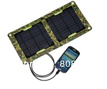BUHESHUI 7W Solar Panel Charger For Mobile Phones+/Power Bank USB Output High Quality Mono Solar Panel 3pcs/lot Free Shipping