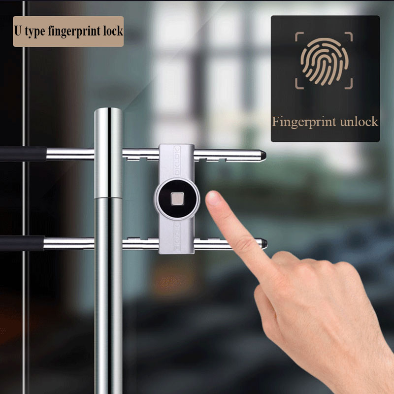 Serrure de porte en verre bureau sans clé vérification d'empreintes digitales avec Bluetooth APP télécommande serrure électronique u-lock