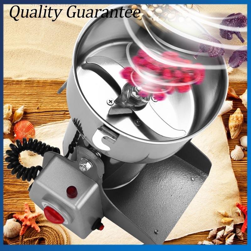 220 V 50Hz Électrique Herbe Café Haricots Moulin À Grain Moulin À Céréales Poudre Machine Farine 800G