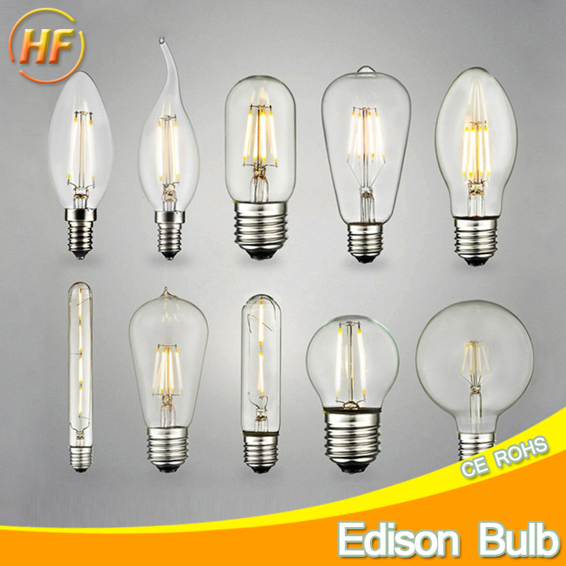 retro antique led edison bulb e14 e27 ampoule vintage led filament light lampada 220v led energy. Black Bedroom Furniture Sets. Home Design Ideas