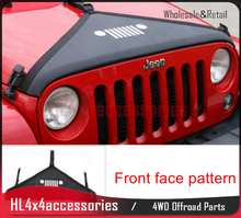 цена на for Jeep Wrangler 2007-2017 Hood Cover Car Engine Cover Cowl cover Front End Bra Protector Kit for wrangler accessories 4WD 4x4