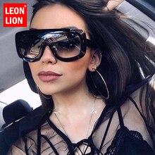 Gafas de sol LeonLion 2019 con montura de leopardo para mujer, gafas de sol de lujo para hombre y mujer, gafas de sol clásicas grandes UV400 para exteriores