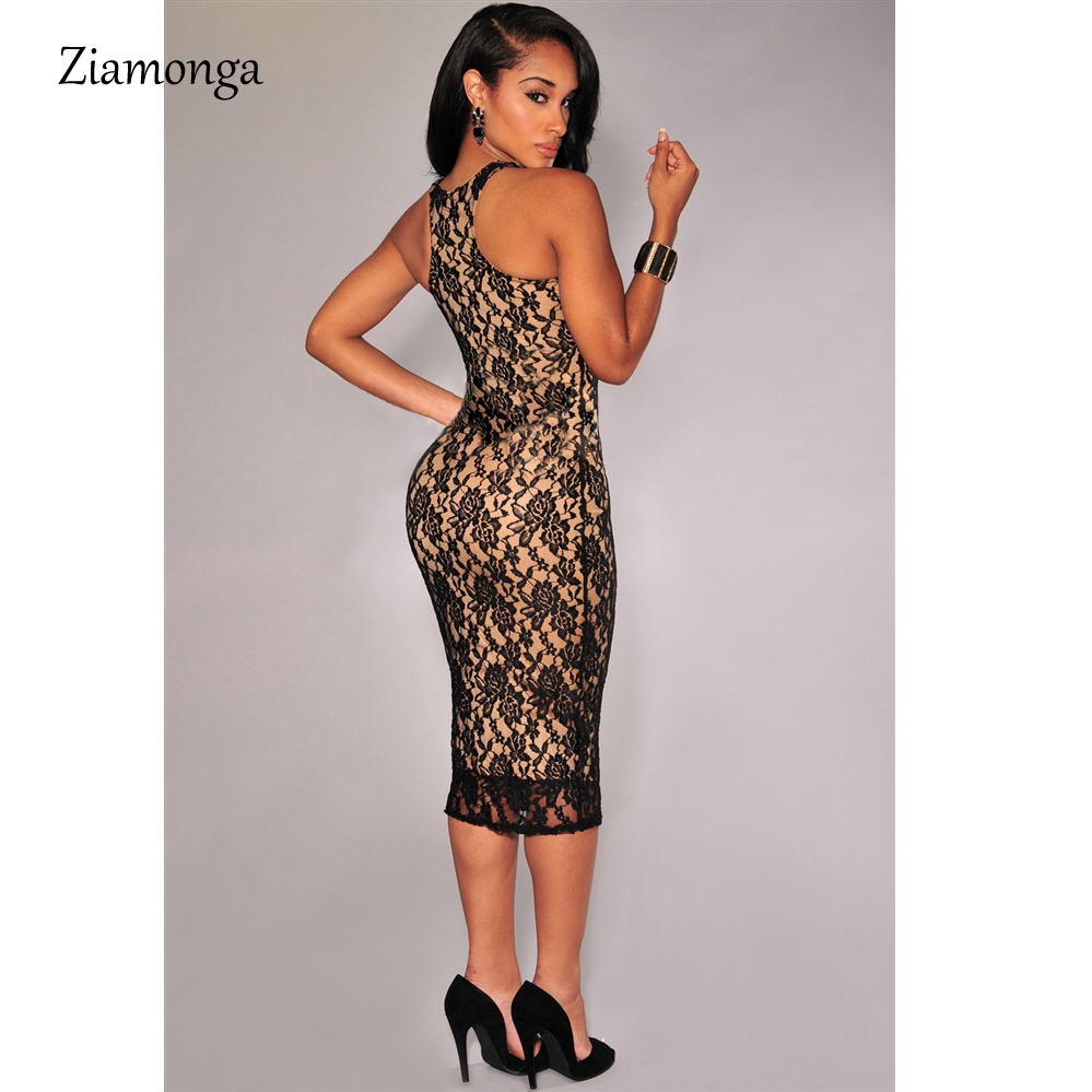57b05379e7c4 Sexy Floral Lace Dress For Women 2019 New Summer Black White Knee length  Midi Dress Vestido De Renda Party Bodycon Dress C1523-in Dresses from  Women s ...