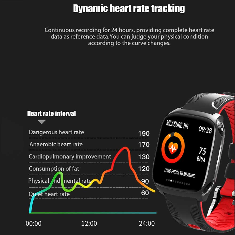 Nashone IOS Android Smart Watch Heart Rate Bluetooth Smartwatch Male Smart Clock Man sport waterproof watch Relogio Masculino in Smart Watches from Consumer Electronics