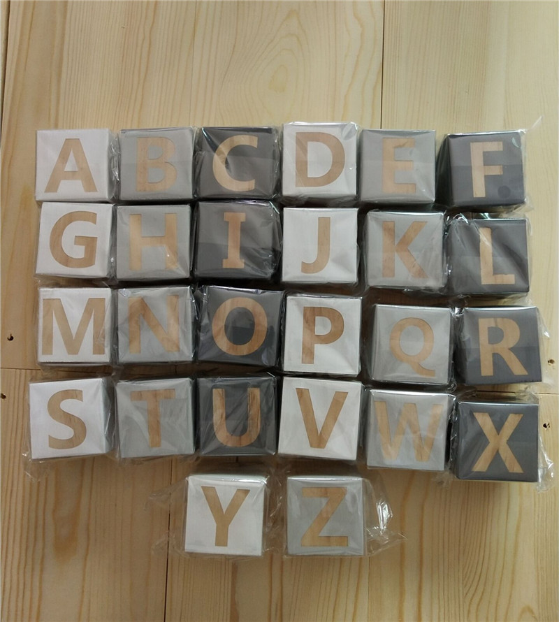 Blocks Set Kids Natural Wood Letter