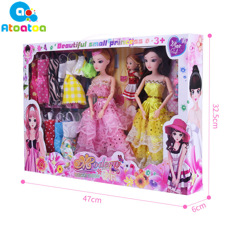 4Pcs 12 Moveable Joint Body Beautiful Princess Babe Dolls + 16Pcs Wedding Design Dress Suite + 98Pcs Doll Accessories ...