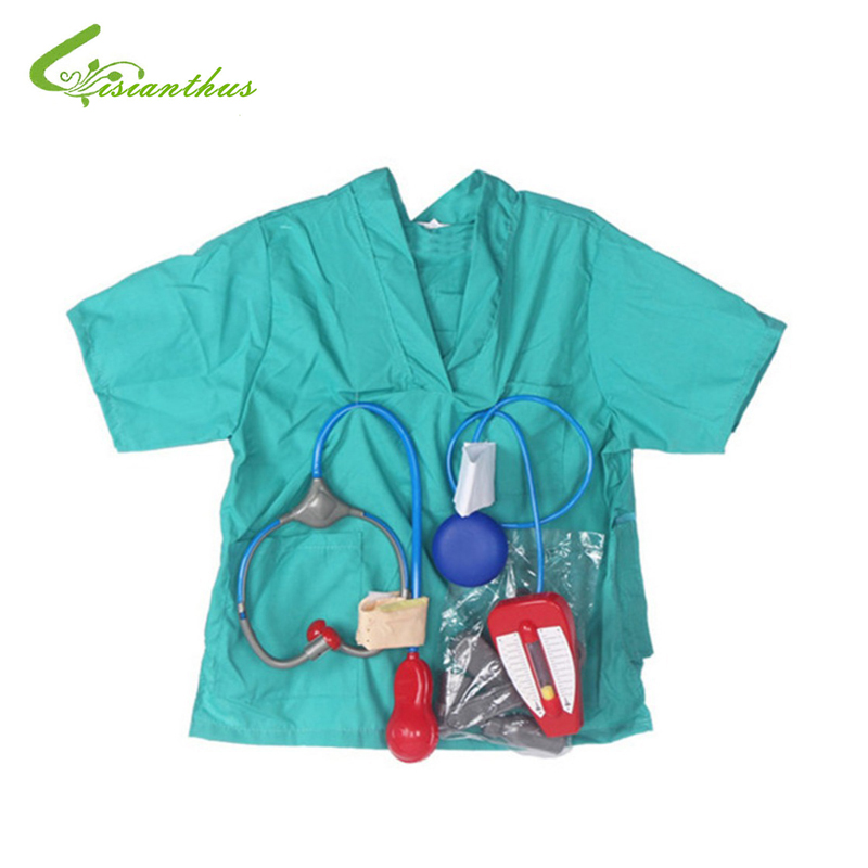 Girls Boys Halloween Costumes Surgeon Sets Doctor Cosplay Stage Wear Clothing Children Kids Party Clothes Free Drop Shipping New