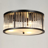 Vintage style Стекло потолочные светильники черный потолочный светильник AC110V 220 В гостиная огни