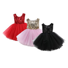 Pudcoco 2019  Backless Princess Kids Baby Flower Girls Party