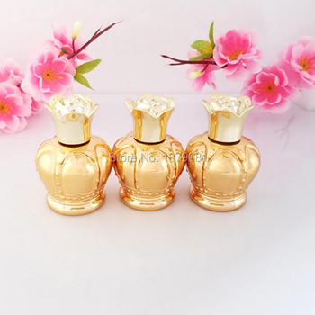 30ML Gold Glass Bottle with Flowder Cap 1 OZ Empty Sample Vials,Embroidered tattoo Essential Oil Bottle Free shipping