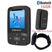Original CHENFEC C50 Mini Sport Clip Bluetooth MP3 Player Music Player Support TF Card, FM Radio, Recording, E-book, Pedometer