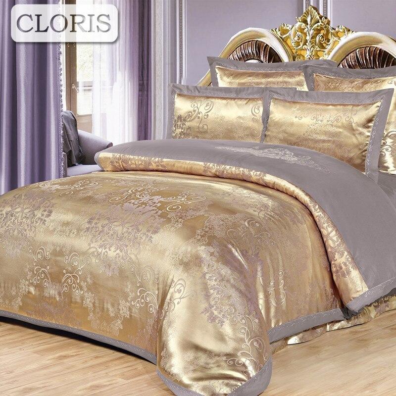 CLORIS Miglior Cotone Bedding Set Ricamo Copertina Lenzuolo Copriletti King Size Fiore Sul Letto Plaid Federe Duvet