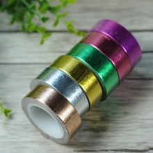 1.5cm Wide Gold Foil Creative Washi Paper Tape Decorative Stickers DIY Scrapbooking Adhesive Masking Packing