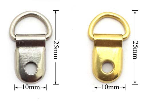 clip over picture hangers frames framing hanging hooks board 2mm brass  plated