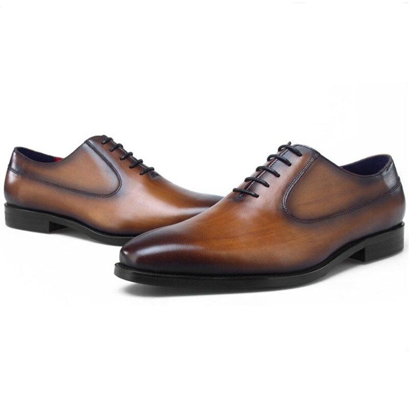 Top qualité noir/marron/bleu/Tan robe de mariée chaussures hommes Oxfords en cuir véritable chaussures d'affaires hommes chaussures sociales