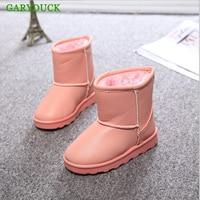 Winter Boots Children S Shoes In The Classic Waterproof PU In Natural Fiber Slip Warm