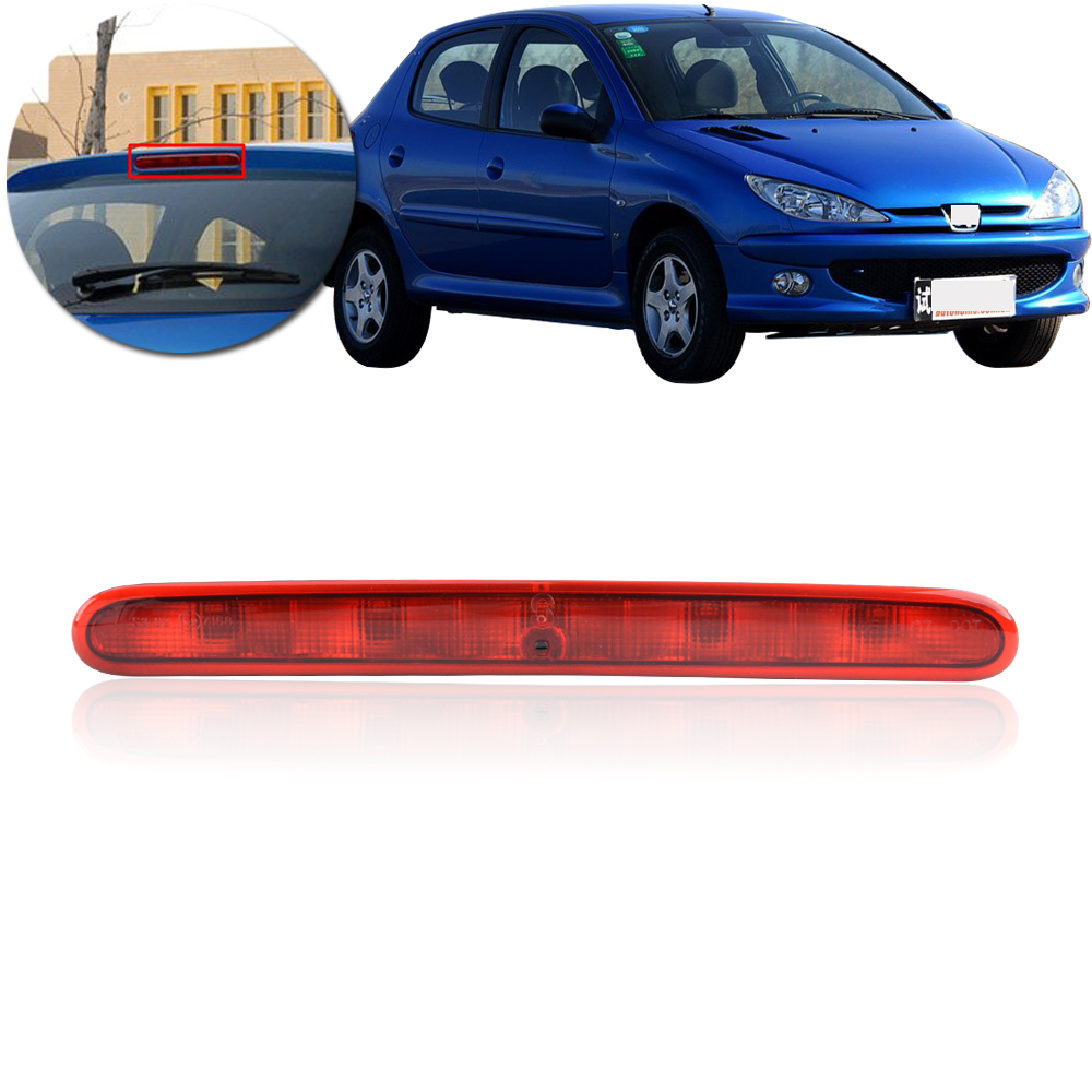 CAPQX For Peugeot 206 207 Citroen C2 High mount stop light Rear brake stop  lamp Center