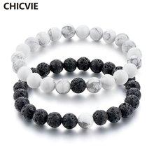 Chicvie модный очаровательный натуральный черный и белый камень