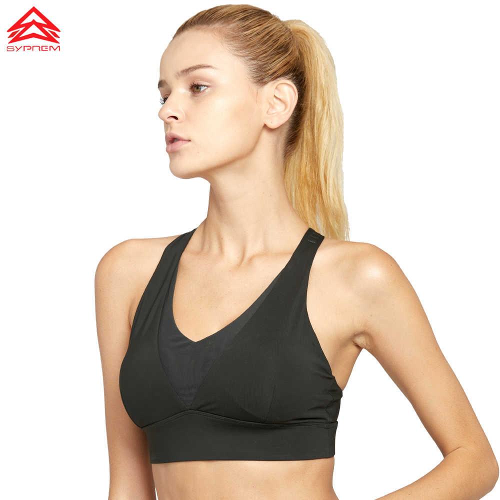 SYPREM dikişsiz spor kadın sutyeni erkek Çıkarılabilir dolgu Pembe Spor Sütyen Çapraz Orta Destek Egzersiz Koşu Yoga Sutyen, 18FT1031