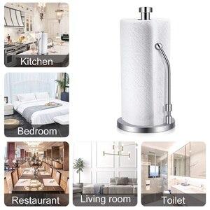 Image 4 - กระดาษผ้าเช็ดตัวผู้ถือสแตนเลสยืนผู้ถือเนื้อเยื่อOne HandedฉีกขาดPerfectออกแบบสำหรับห้องครัวช่วยให้ห้องครัว