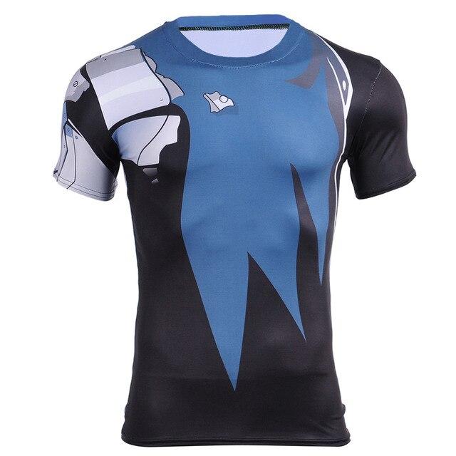 7c192b4de6 Camada de Base quente Dragon Ball Z Super Saiyan Camiseta de Fitness Calças  Justas Quick Dry