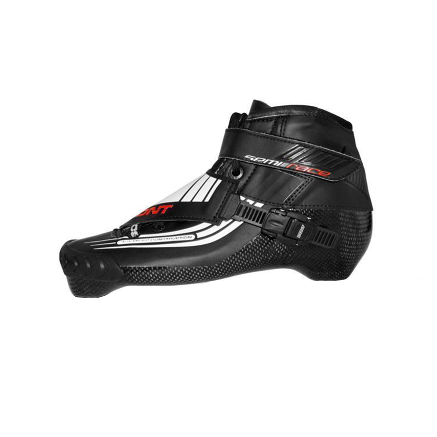 100% Original Bont Semi course 2PT 195mm vitesse patin à roues alignées thermomoulable en Fiber de carbone botte compétition course patinage bottes Patines