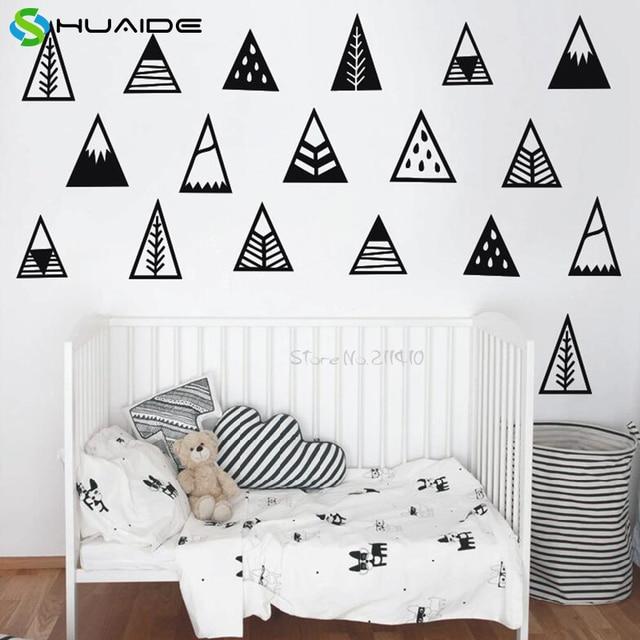 Mignon Montagne Vinyle Stickers Muraux Pour Enfants Chambre Nordique ...
