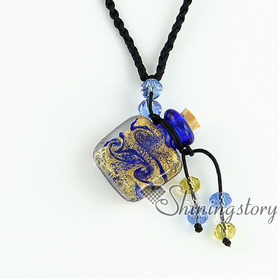 Essential oil diffuser necklaces vintage perfume bottle pendant essential oil diffuser necklaces vintage perfume bottle pendant necklace wholesale glitter murano glass jewelry in pendants from jewelry accessories on aloadofball Choice Image