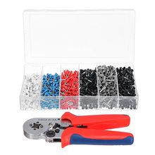 HOT-1500Pcs Crimper Cord Wire Connector Terminal Bootlace Ferrule Crimper Kit With Ratchet Crimping Tool End Terminal Block